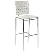 Carina Bar Chair-White-Chrome