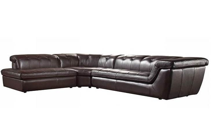 Espresso Leather Sofa Sectional VG97 Leather Sectionals