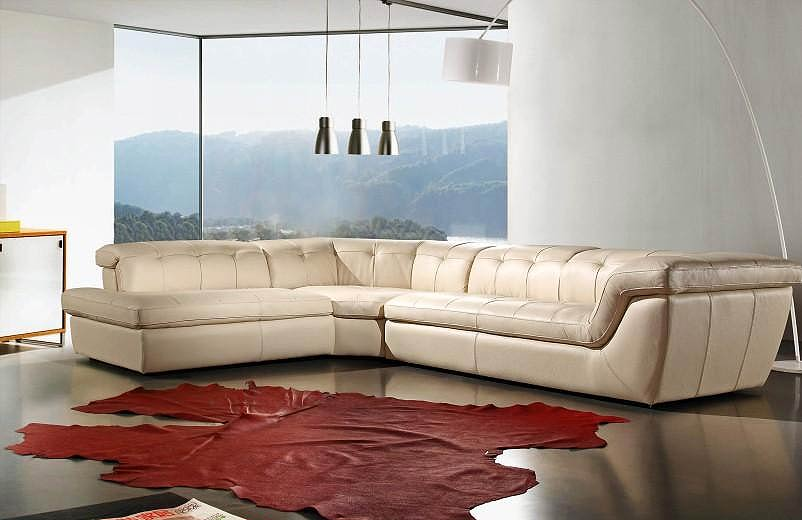 Espresso Leather Sofa Sectional VG97 · Espresso Leather Sofa Sectional VG97