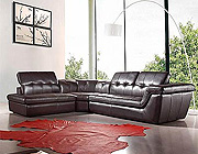 Espresso Leather Sofa Sectional VG97