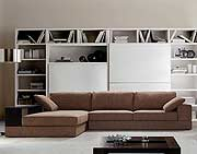 Brown Fabric Sectional with Ottoman VG39