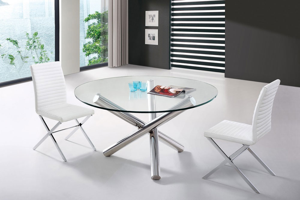 Dining table 08 modern dining for Small contemporary dining tables
