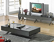 Modern glossy gray coffee table CR1074