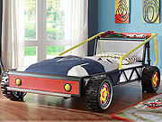 Red Twin Race Car Bed