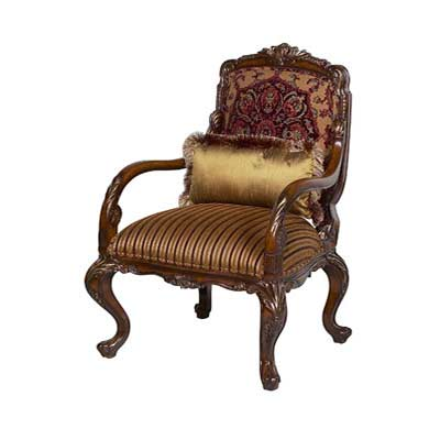 Bt 054 Traditional Style Accent Arm Chair Accent Seating