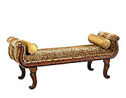 BT 279 Traditional Bench Seat with Animal Print