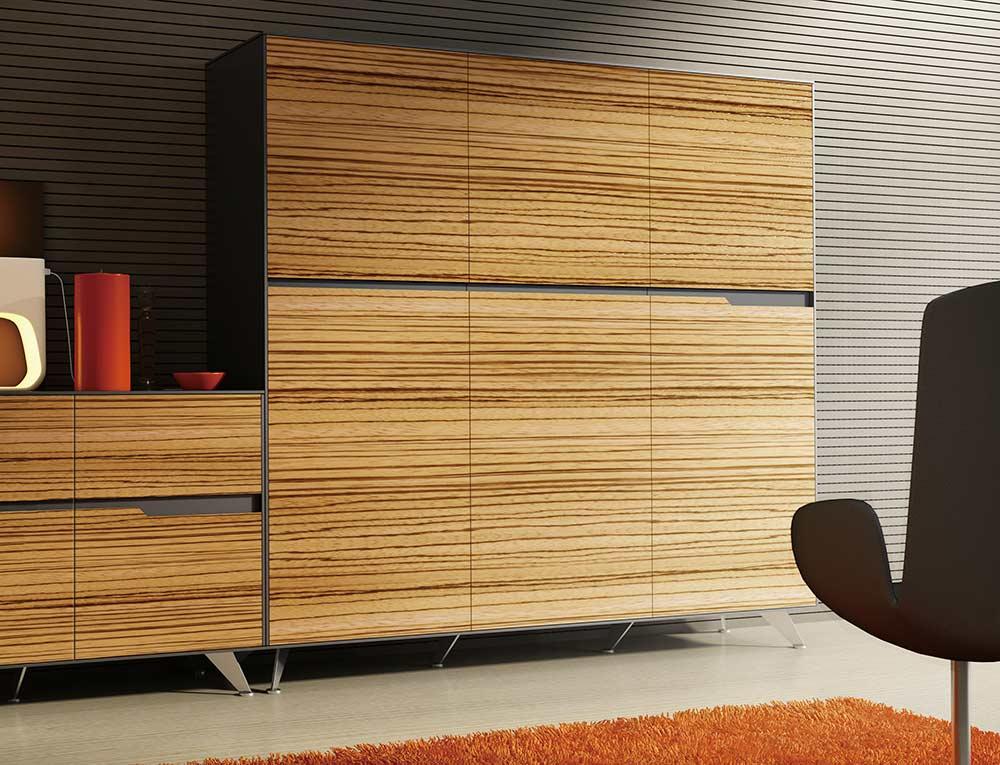 Zebrano Storage Cabinet 496 By Unique Furniture Unique Desks