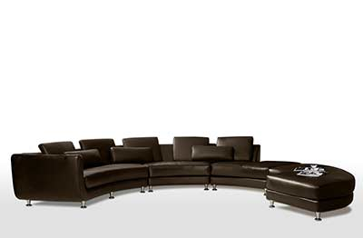 Contemporary Bonded Leather Sectional Sofa Brizio