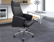 Modern Black Leatherette High Back Office Chair Z-080