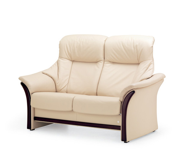 Fjords Alfa Leather Reclining Back Loveseat by
