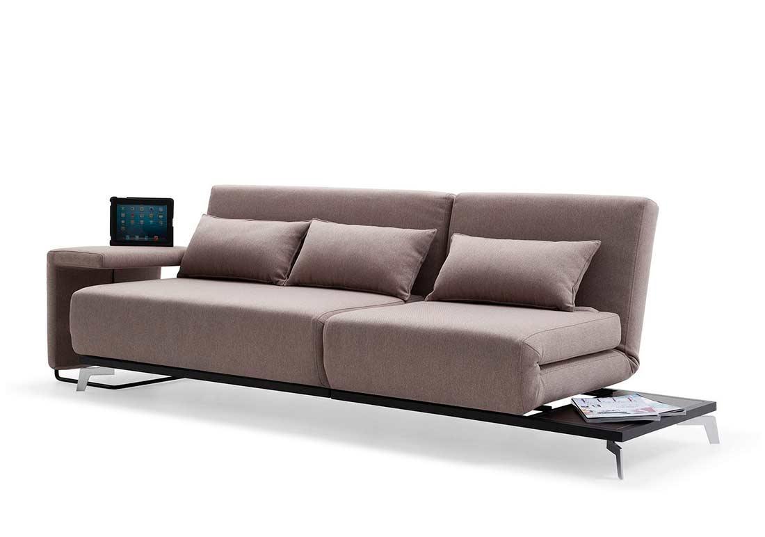 Brown Fabric Sofa Sleeper Vg33 Sofa Beds