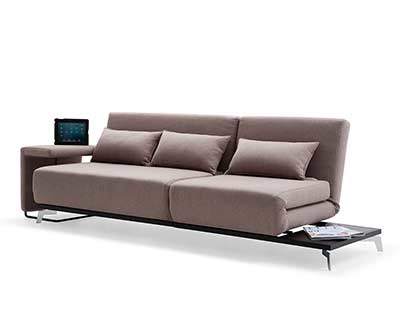Brown Fabric Sofa Sleeper VG33