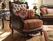 Traditional Chenille Fabric Chair HD 1363