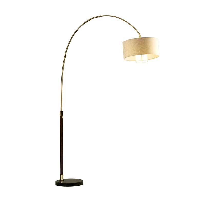 Pecan arc floor lamp nl178 floor table - Arc floor lamp shade ...