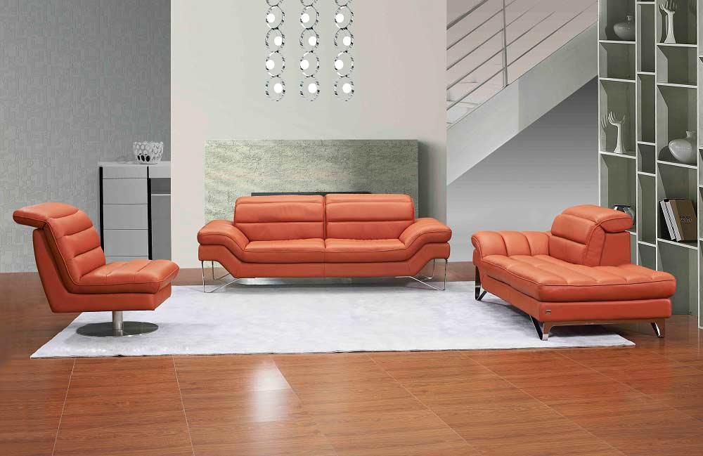 Modern Italian Chocolate Leather Sofa JM621