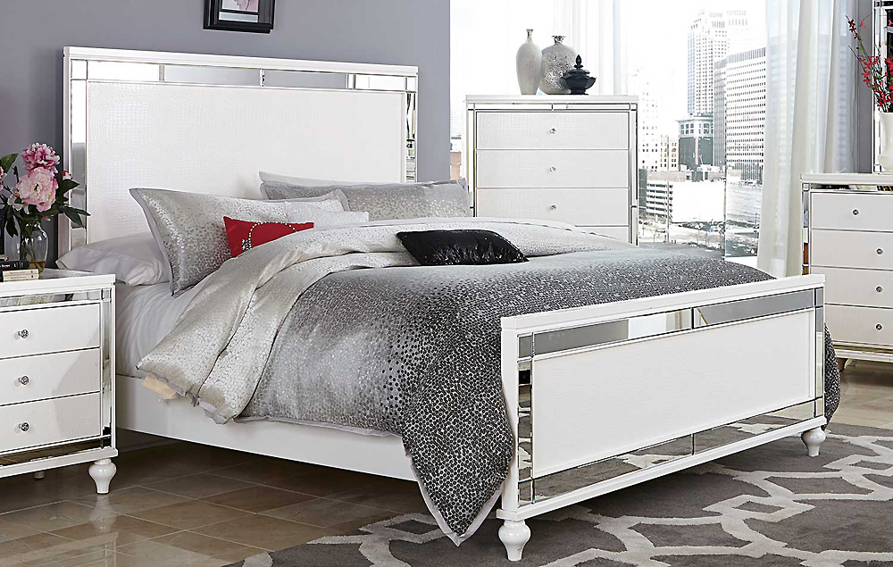 Alina White Bedroom Collection