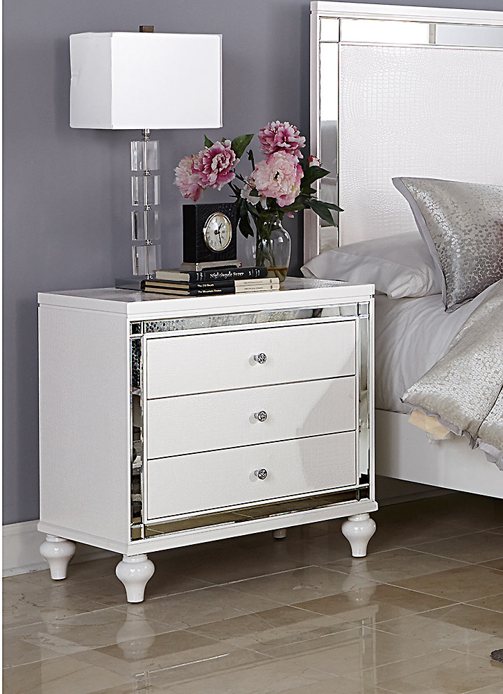 Alina White Bedroom Collection Urban Transitional