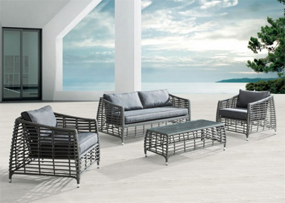 Modern Red Outdoor Set ZU26