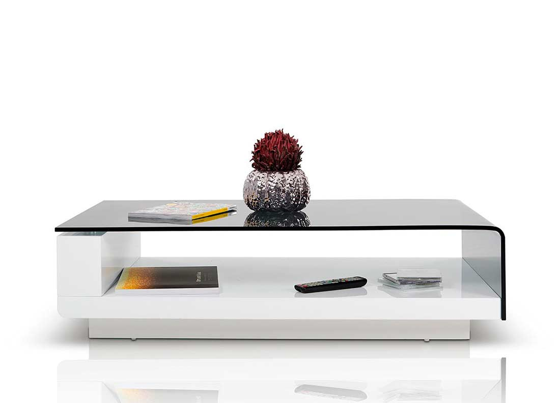 Modern Grey Glass Top Coffee Table Vg676