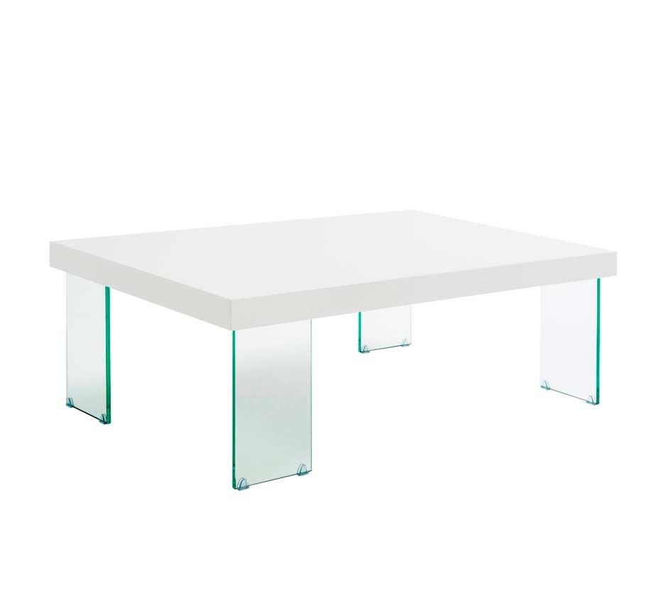 Contemporary Coffee Table With Glass Legs Carlo