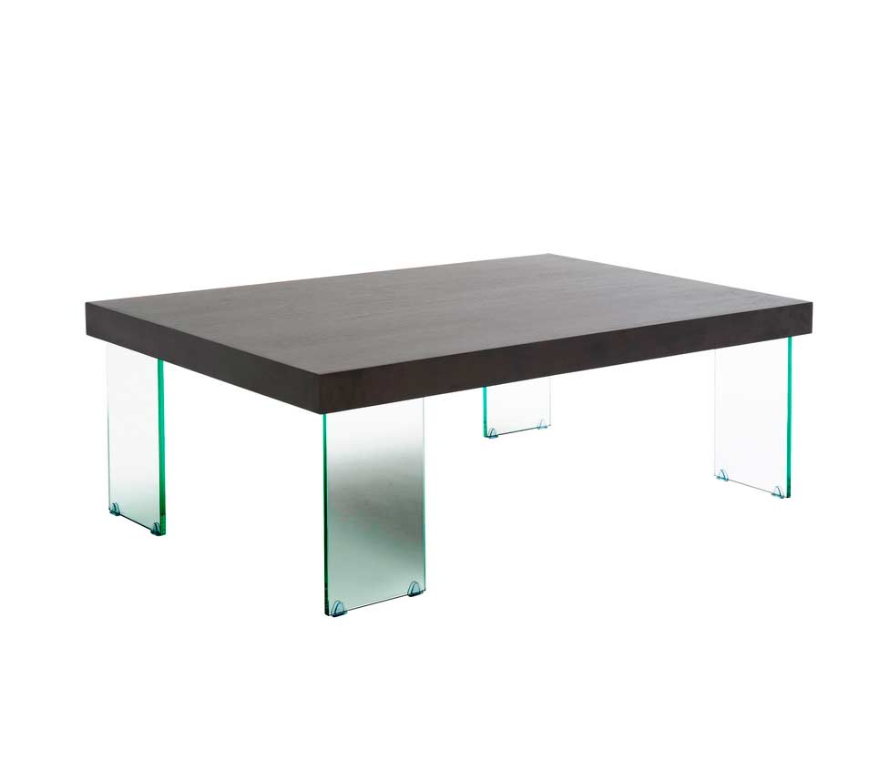 Contemporary coffee table with glass legs carlo contemporary Glass contemporary coffee table