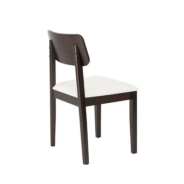 White leatherette arm chair caden modern chairs