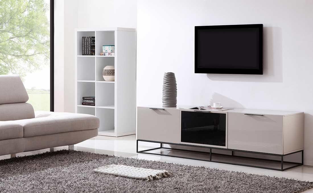 Modern Cream Black Tv Stand Bm35 Tv Stands