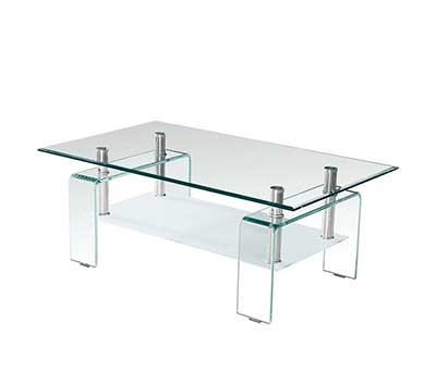 Clear and Frost Glass Coffee table BM016