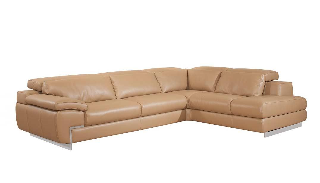 Top Grain Leather Mouton Sectional Sofa Zena