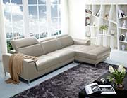 Italian Beige Leather Sectional Sofa NJ727
