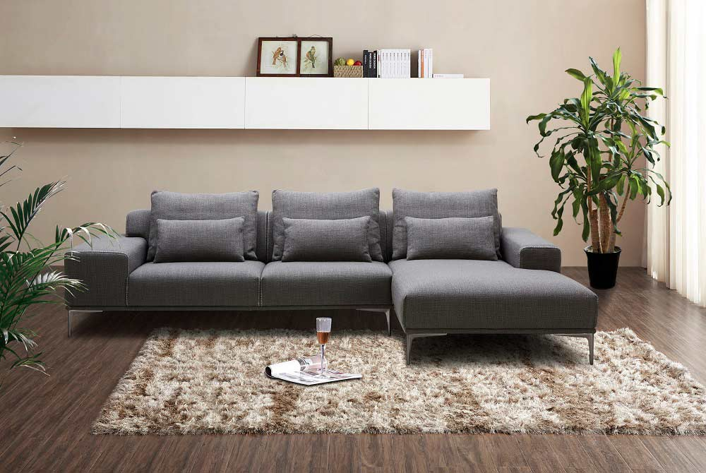 Incredible Dark Grey Fabric Sectional Sofa Nj Christopher Fabric Dailytribune Chair Design For Home Dailytribuneorg
