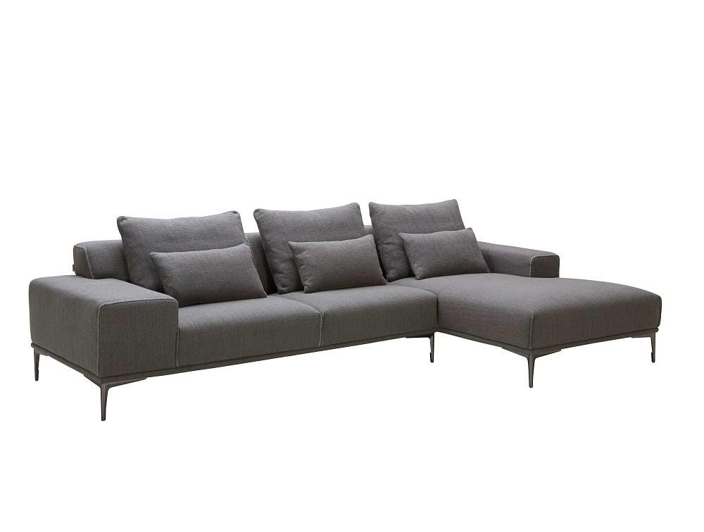 Dark Grey Fabric Sectional Sofa Nj Christopher Fabric