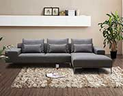 Dark Grey Fabric Sectional sofa NJ Christopher