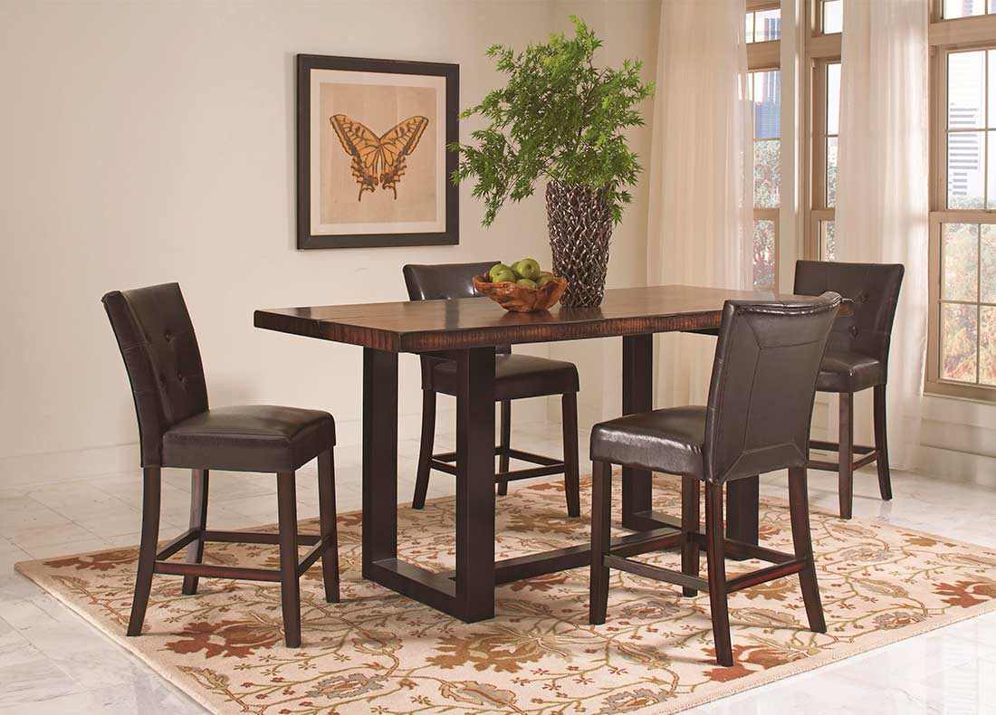 transitional two tone counter table co648  tables  chairs