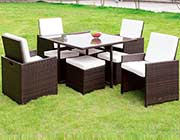 Modern 9pc Dining Patio Set FA101