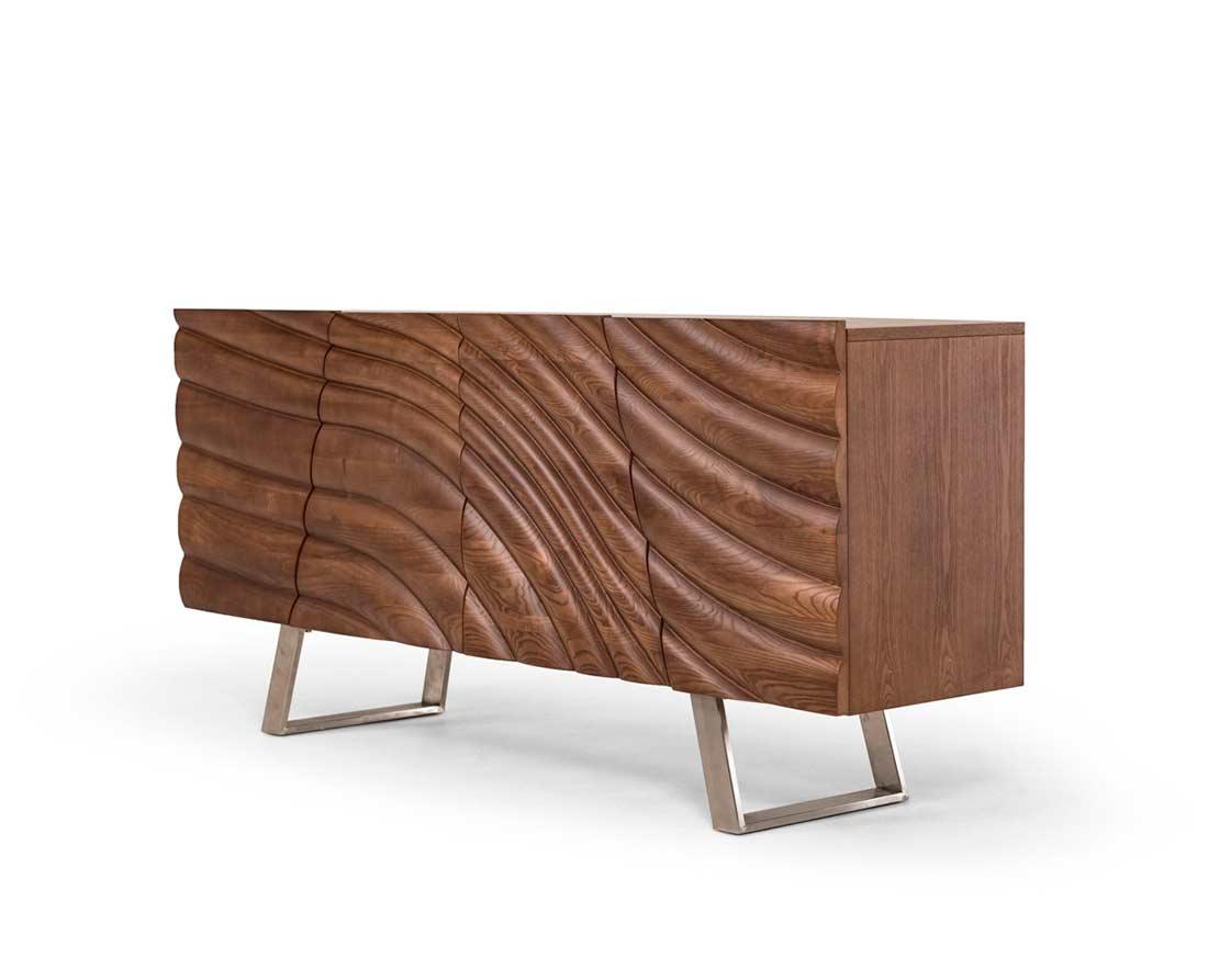 Modern walnut buffet vg050 modern buffets stations for Walnut furniture