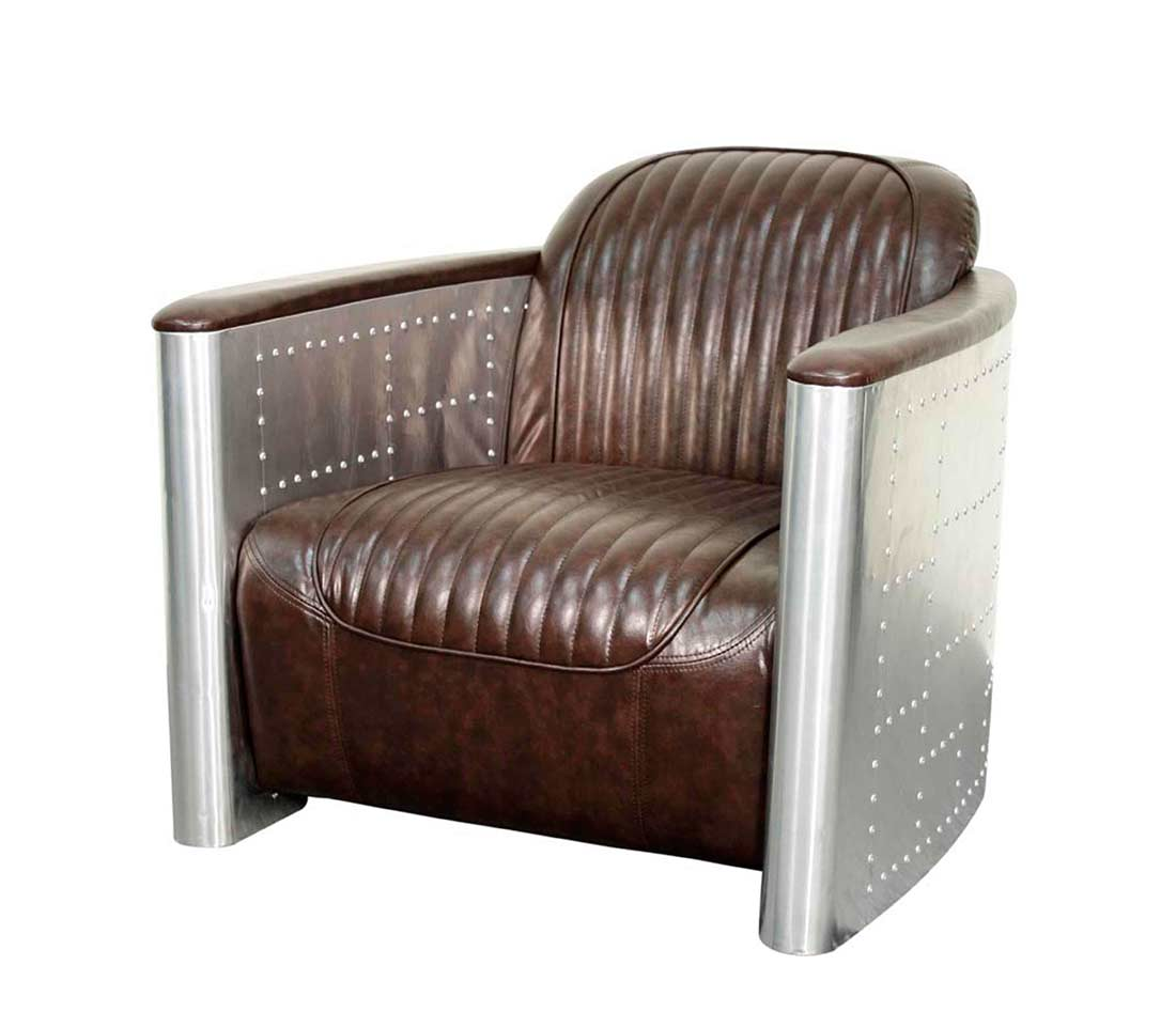 Accent Chair In Distressed Caramel Pg Edson Accent Seating