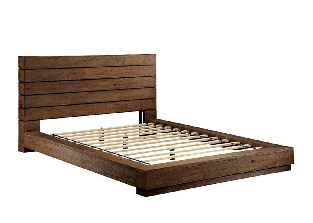 Low Profile Bed With Plank Panel Headboard Fa23 Urban