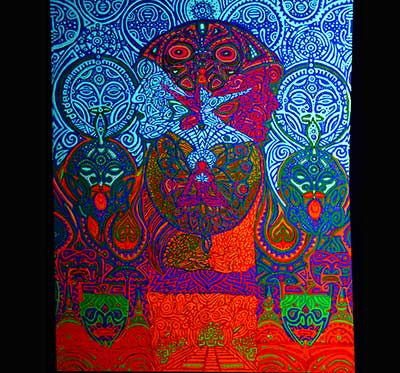 visionary art fluorescent contemporary unique Sergey Rytov Jungle of Visions
