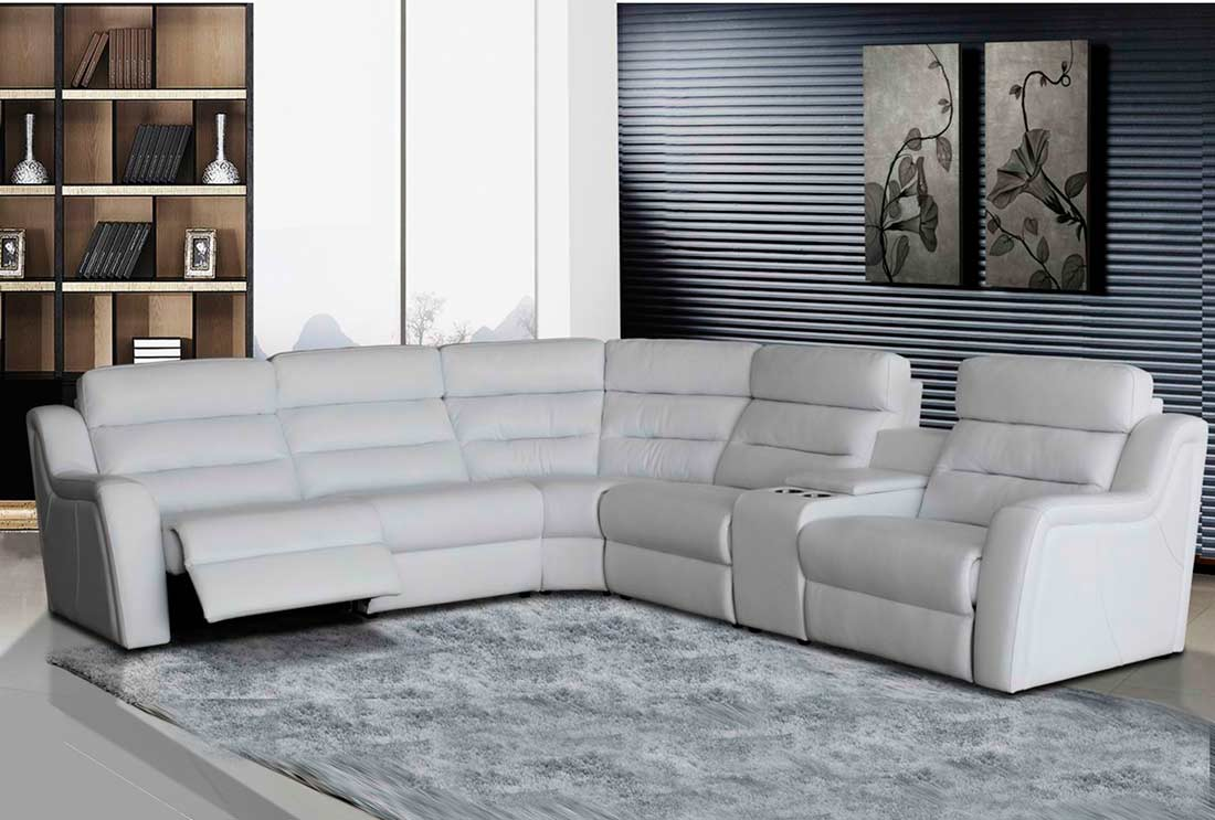 Recliner Sectional Sofa F80 Leather Sectionals