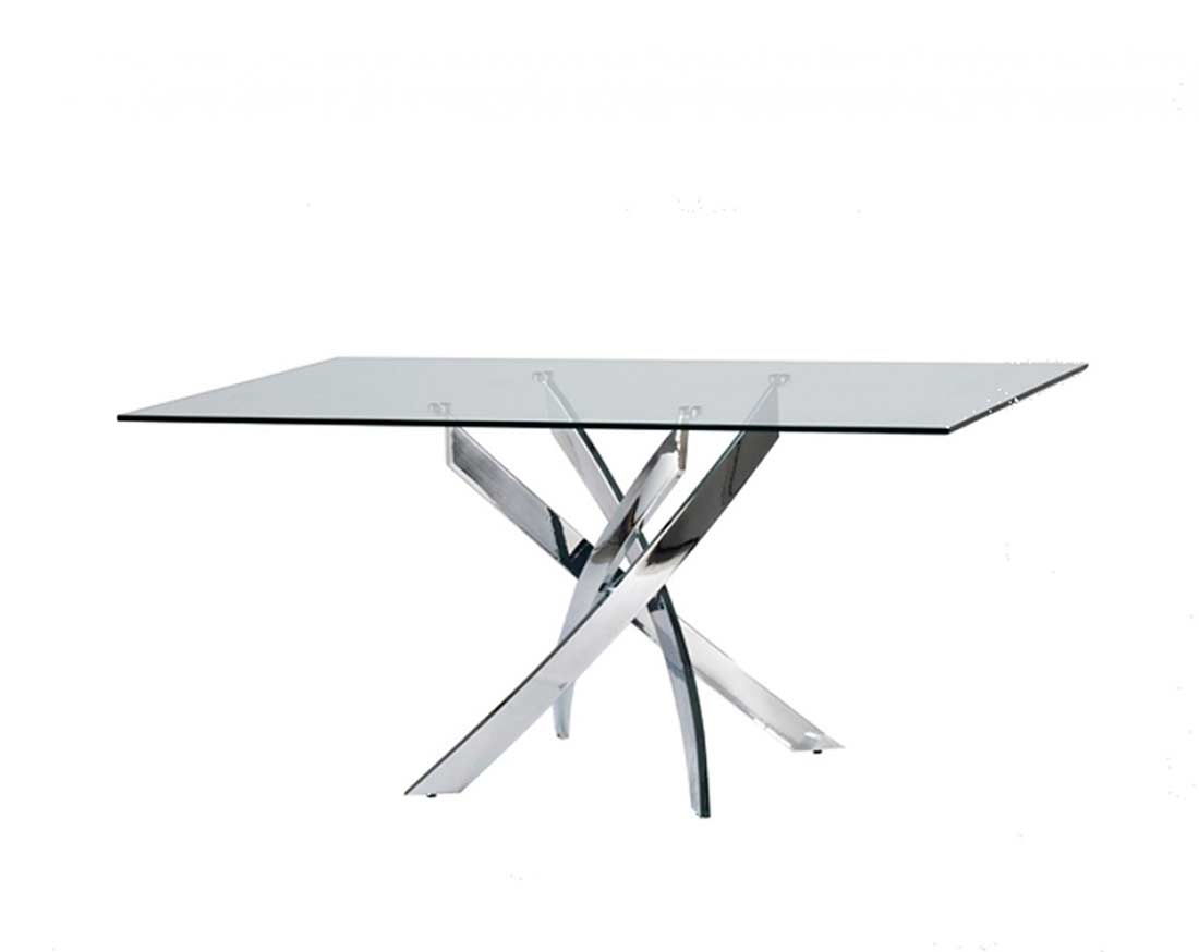 Glass Rectangular Dining Table Vg432 Modern Dining
