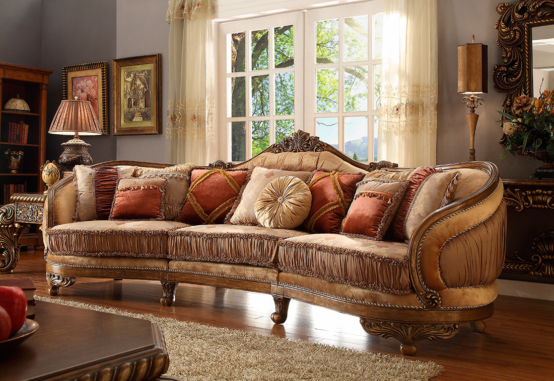 Traditional sofa hd58 traditional sofas for Traditional sectional sofas living room furniture