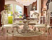 Antique White Round Dining Table HD 017