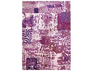 Violet Hand-tufted Wool Rug FR 117
