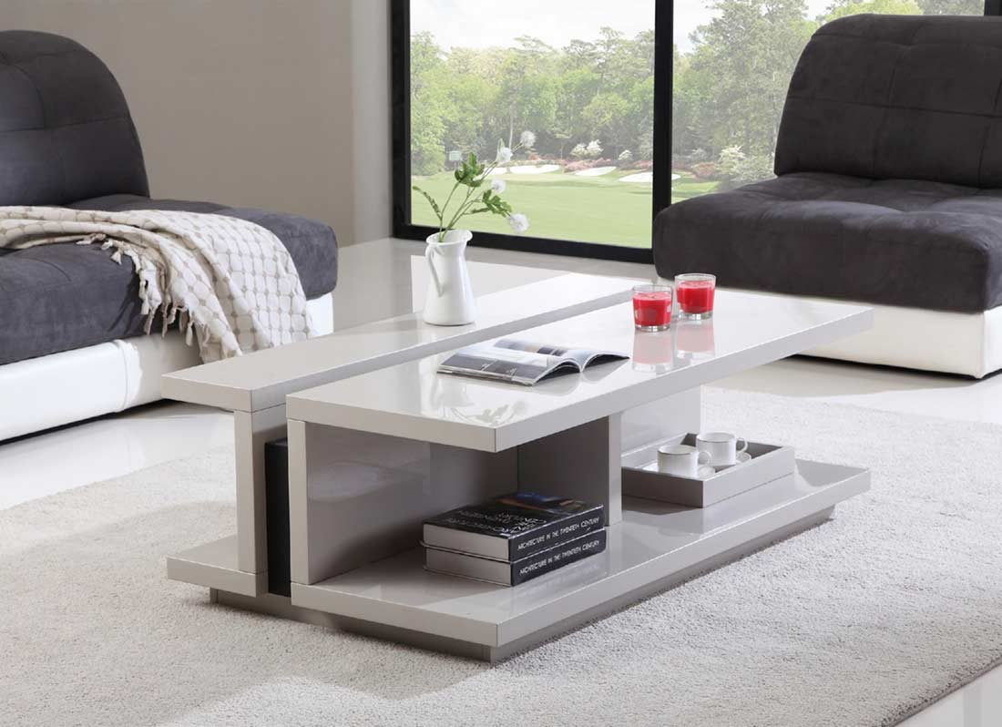 High gloss white coffee table bm 31 contemporary - How high is a coffee table ...