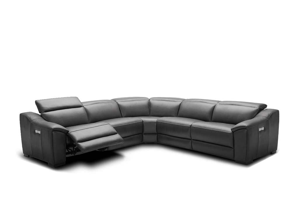 Dark Grey Leather Sectional NJ 775 | Leather Sectionals
