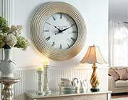 Silver Wall Clock AC 230