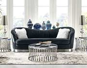 Gray Velvet Sofa DS Pauline