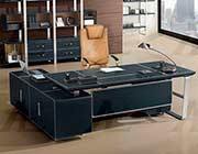 Black Faux Leather Desk AE 61