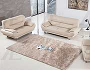 Bone Bonded Leather Sofa set AE 709